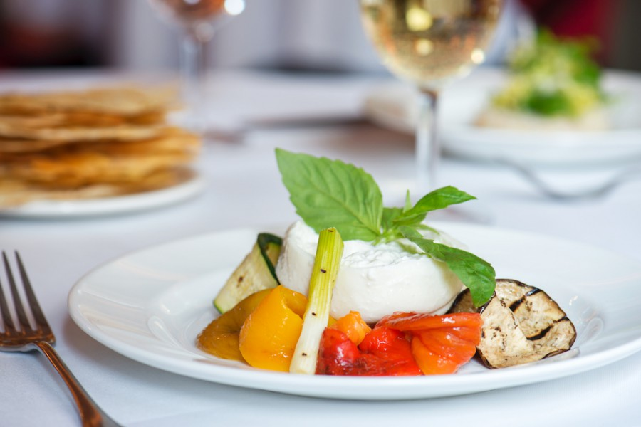 Burrata with Grilled Vegetables